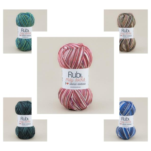 Rubí May Socks 70%acr. 100gr. 10un -*Ref.VHA24-