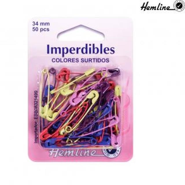 Imperdible de color 1u -Ref.414.AC Col.surtido-