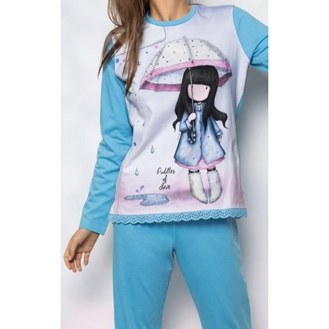 Pijama Gorjuss Puddles Of Love -Ref.50767 Col.azul-