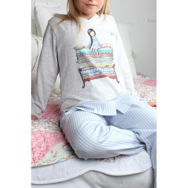Pijama niña Tween the princess -Ref.54402 Col.azul-