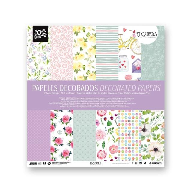 Papel decorado doble cara 12un -Ref.1110961702-